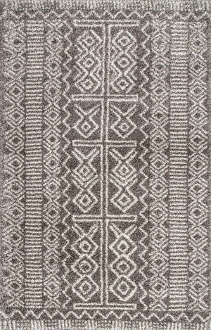 Nuloom Hurley Tribal Dark Grey Area Rug