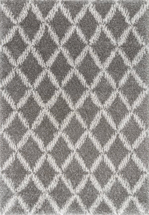 Nuloom Sharika Lattice Dark Grey Area Rug