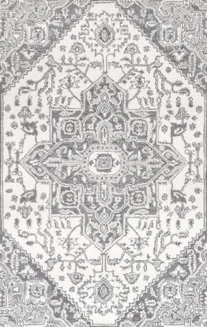 Nuloom Dewitt Floral Grey Area Rug