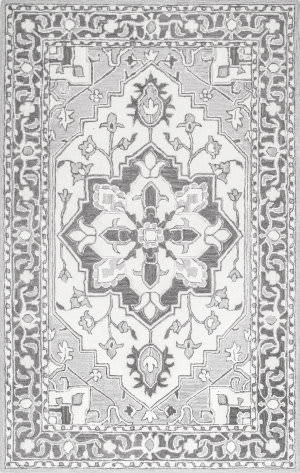 Nuloom Aileen Floral Grey Area Rug