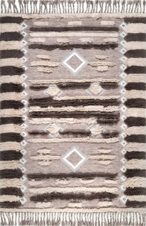 Nuloom Heller Shaggy Brown Area Rug