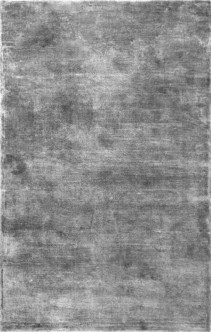 Nuloom Solid Viscose Grey Area Rug