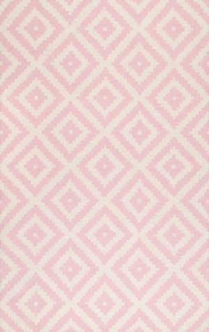 Famous Maker Hand Tufted Kellee Light Pink Area Rug