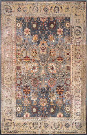 Famous Maker Traditional Dorothy Blue Area Rug