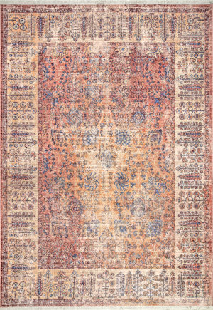 Famous Maker Vintage April Orange Area Rug