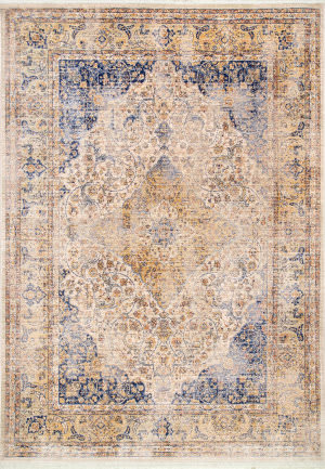 Famous Maker Vintage Roxie Blue Area Rug