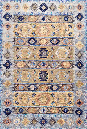 Nuloom Bettie Southwestern Blue Area Rug