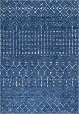 Famous Maker Moroccan Blythe Dark Blue Area Rug