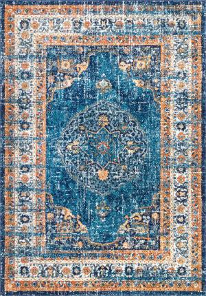Nuloom Persian Vintage Blue Area Rug