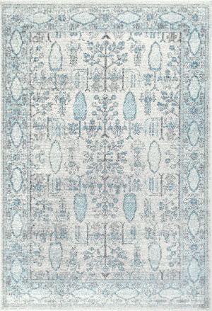 Nuloom Vintage Gabbeh Lopes Light Blue Area Rug