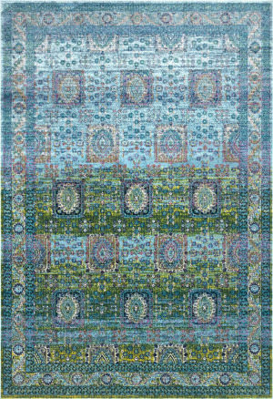 Nuloom Vintage Tiles Lakeshia Blue Area Rug