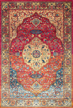 Nuloom Vintage Medallion Shirlee Rust Area Rug