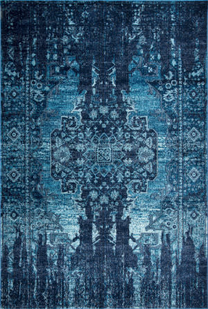 Nuloom Vintage Jewel Blue Area Rug