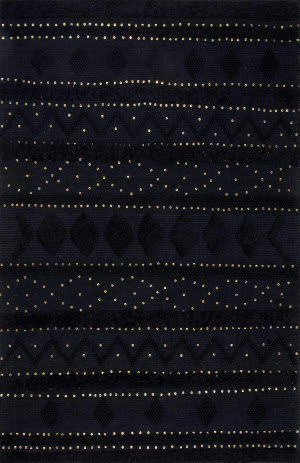 Nuloom High-Low Durden Black Area Rug
