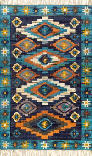 Nuloom Jaye Tassel Blue Area Rug