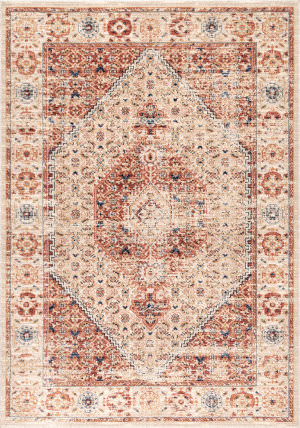 Famous Maker Vintage Doris Orange Area Rug
