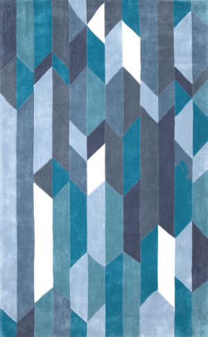 Nuloom Hand Tufted Almeta Blue Area Rug