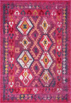 Nuloom Tribal Mayola Pink Area Rug