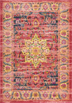 Nuloom Persian Medallion Rozella Orange Area Rug