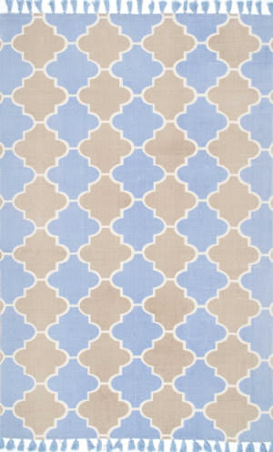 Nuloom Hand Woven Becky Blue Area Rug