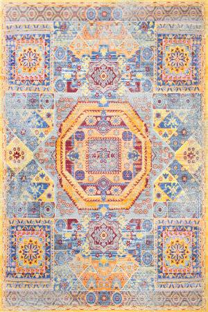 Nuloom Persian Mamluk Laila Yellow Area Rug
