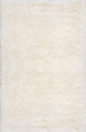 Nuloom Hand Tufted Kristan Shag Ivory Area Rug