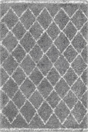 Famous Maker Vennie Shaggy Gray Area Rug