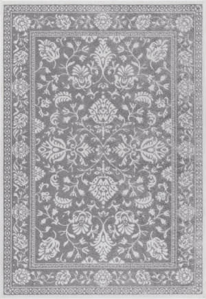 Nuloom Vintage Floral Desirae Dark Grey Area Rug