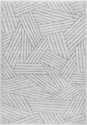 Nuloom Vintage Striped Louisa Grey Area Rug