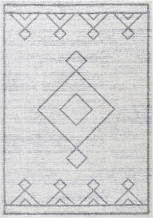 Nuloom Tribal Diamond Medallion Grey Area Rug