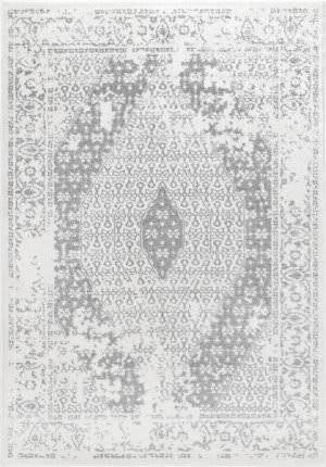 Nuloom Vintage Medallion Magee Grey Area Rug