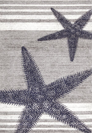 Nuloom Thomas Paul Power Loomed Starfish Grey Area Rug