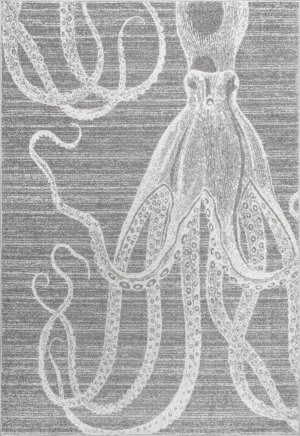 Nuloom Thomas Paul Power Loomed Octopus Grey Area Rug