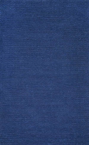 Nuloom Hand Woven Chunky Woolen Cable Navy Area Rug