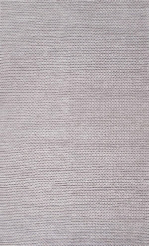 Nuloom Hand Woven Chunky Woolen Cable Light Grey Area Rug