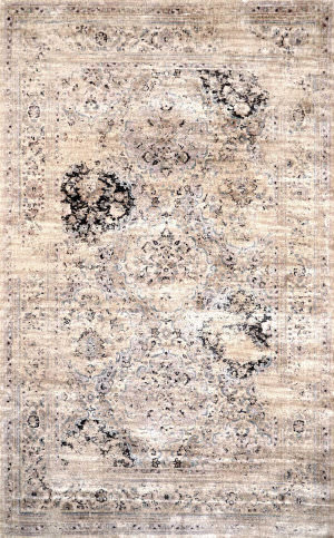 Nuloom Machine Made Panel Ivory Area Rug