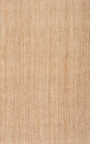 Nuloom Ashli Solid Jute Natural Area Rug