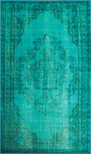 Nuloom Machine Made Vintage Turquoise Area Rug