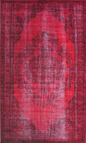 Nuloom Machine Made Vintage Red Area Rug