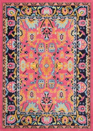 Famous Maker Floral Connor Pink Area Rug