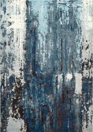 Nuloom Abstract Haydee Blue Area Rug