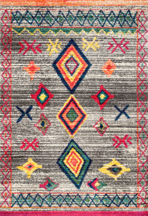 Famous Maker Bohemian Liz Dark Grey Area Rug