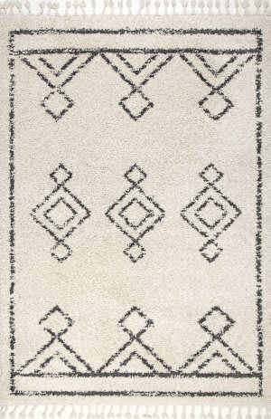 Famous Maker Mackie Tassel Off White Area Rug