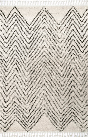 Famous Maker Amanda Tassel Off White Area Rug