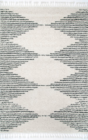Famous Maker Bria Tassel Off White Area Rug