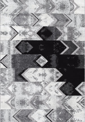 Nuloom Hilma Abstract Chevron Grey Area Rug