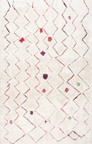 Famous Maker Hand Tufted Ninfa Red Area Rug