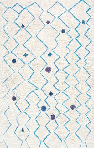 Nuloom Hand Tufted Ninfa Blue Area Rug