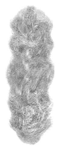 Nuloom Terrell Faux Sheepskin Light Grey Area Rug