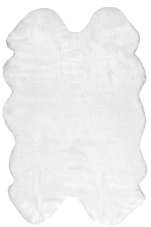 Nuloom Tianna Faux Sheepskin Quarto White Area Rug